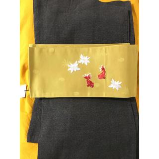コムサデモード(COMME CA DU MODE)の【新品】 女性用 浴衣 こむさでもーど 綿麻 ゆかた 半幅帯 YW-07(浴衣)