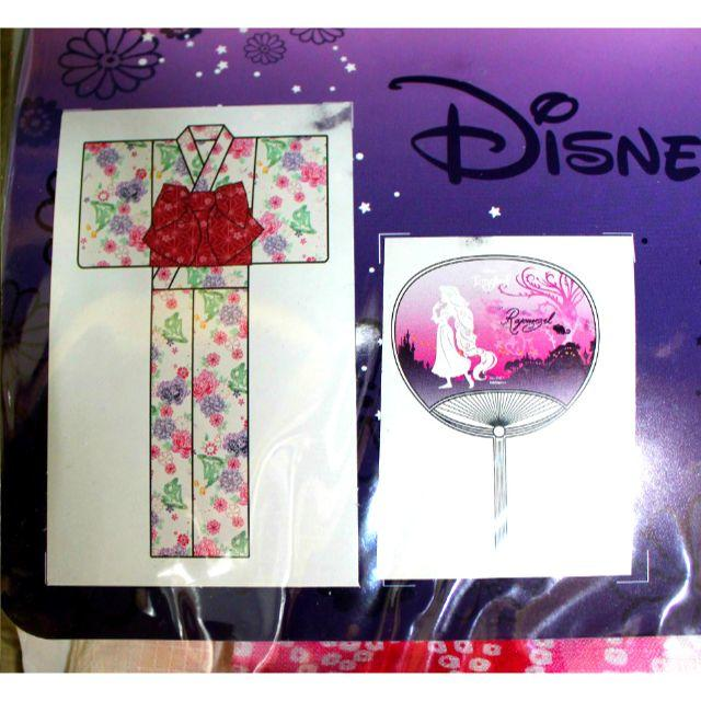 Disney(ディズニー)の新品♥ラプンツェル 浴衣セット ディズニー レディース 花柄 ホワイト レディースの水着/浴衣(浴衣)の商品写真