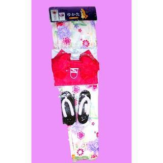ディズニー(Disney)の新品♥ラプンツェル 浴衣セット ディズニー レディース 花柄 ホワイト(浴衣)