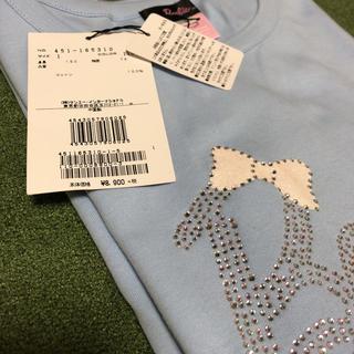 バービー(Barbie)の新品バービー長袖Tシャツ1/150cmブルーキラキラ(Tシャツ/カットソー)