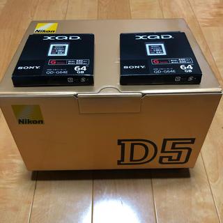 Nikon - 新品同様 Nikon D5 XQD-type 3年保証付き