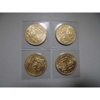 天皇陛下御在位60年記念10万円金貨×4枚(貨幣)
