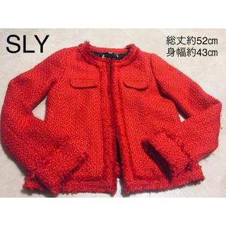 スライ(SLY)のSLYツイードジャケット(ノーカラージャケット)