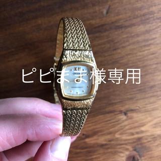 オリエント(ORIENT)のオリエント 時計 華奢  ゴールド(腕時計)