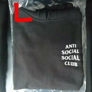 アンチ(ANTI)のanti social social club パーカー 黒 L assc(パーカー)