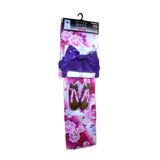 新品♥パープル 浴衣セット レディース 花柄 紫 (浴衣)