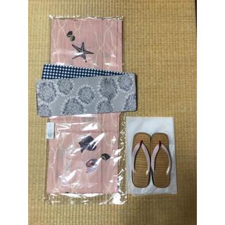ツモリチサト(TSUMORI CHISATO)の【新品】夢工房 浴衣と帯セット 草履おまけ付き 送料込み(浴衣)