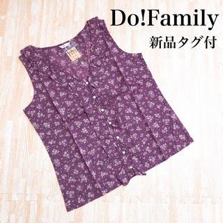 ドゥファミリー(DO!FAMILY)の【新品タグ付】Do!Family 小花柄 シャツ ブラウス ノースリーブ 春夏(シャツ/ブラウス(半袖/袖なし))