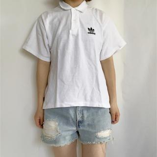 アディダス(adidas)のadidas ロゴ刺繍ポロシャツ(ポロシャツ)