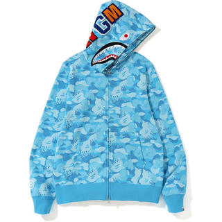 A BATHING APE - A bathing ape shark hoodie