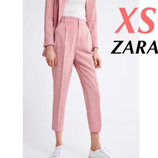 ザラ(ZARA)のザラ チェックパンツ xs 田中彩子さん着用‼️(クロップドパンツ)