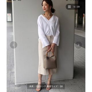 ノーブル(Noble)のNOBLEフープジップタイトスカート(ひざ丈スカート)