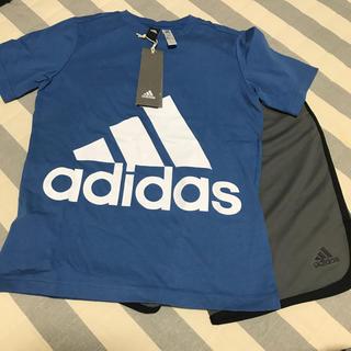 アディダス(adidas)のadidas140半袖とパンツセット(パンツ/スパッツ)