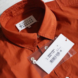 Maison Martin Margiela - 新品 マルジェラ コットンシャツ 42 オレンジ