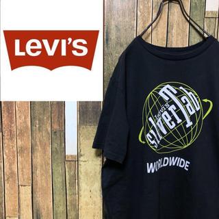 Levi's - 【レア】リーバイスLevi's☆シルバータブビッグロゴプリントTシャツ