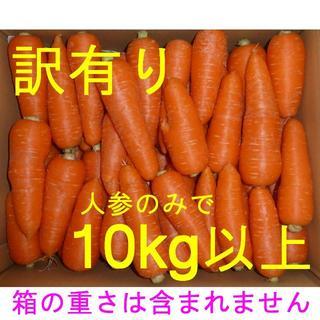 徳島産/ハウス栽培 人参 訳あり品(曲がり・軽微なシミ・角など)10kg以上(野菜)