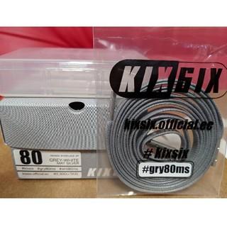 kiksix waxed shoelaces gray 80cm(その他)