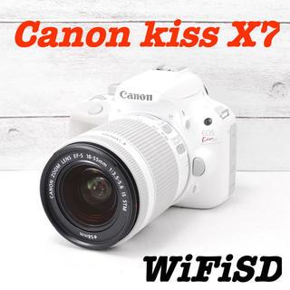 Canon - ❤️希少なホワイト❤️Wi-Fiでスマホへ❤️Canon kiss X7