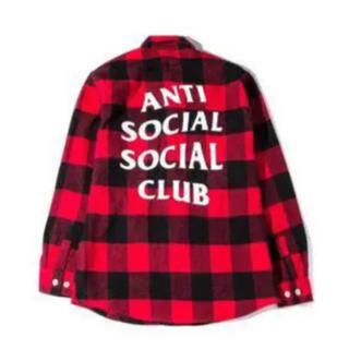 アンチ(ANTI)のアンチソーシャルクラブ チェックシャツ  サイズM(シャツ)