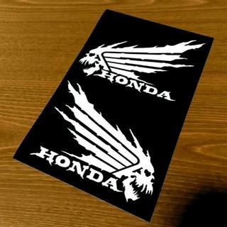 ホンダ(ホンダ)の【送料込み】カッティングステッカー ホンダ HONDA ウィング スカル(車外アクセサリ)