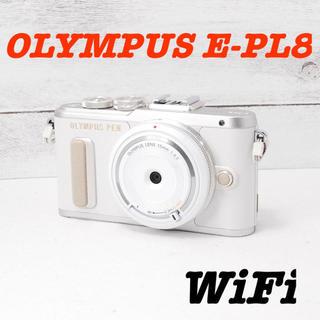 オリンパス(OLYMPUS)の❤️その場でスマホ転送❤️可愛いホワイト❤️OLYMPUS E-PL8(ミラーレス一眼)
