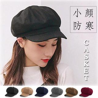 【新品】キャスケット レディース 帽子 キャップ ハンチング つば付き 小顔効果(ハンチング/ベレー帽)