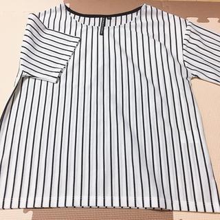 シマムラ(しまむら)のHK WORKS LONDON ストライプシャツ(シャツ/ブラウス(半袖/袖なし))