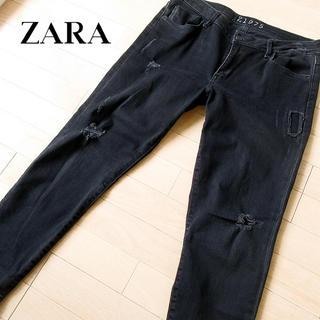 ザラ(ZARA)の美品 W87 ZARA ザラ レディース スキニーデニム ブラック(デニム/ジーンズ)