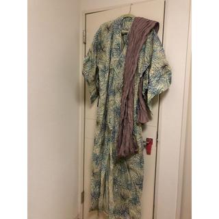 大きい 浴衣 レディース 9点セット(浴衣)