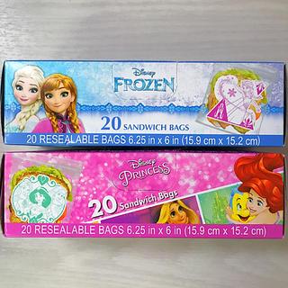 Disney - ジップロック 2箱 プリンセス アメリカ限定 Ziplock アナ雪 ハワイ