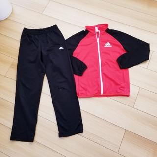アディダス(adidas)のadidas アディダス ジャージ上下 140 セット 赤 黒 セットアップ(その他)