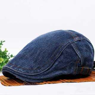 ダークブルー デニム ハンチング 帽子 キャップ ベレー帽 メンズ レディース(ハンチング/ベレー帽)
