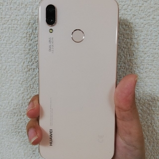 ANDROID - [動作確認済み]HUAWEI P20 lite ピンク [画面割れ]