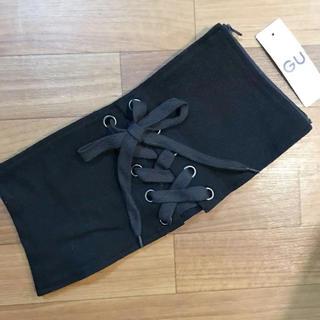 ジーユー(GU)の【新品】GU ジーユー コルセット ベルト 黒 ブラック(ベルト)