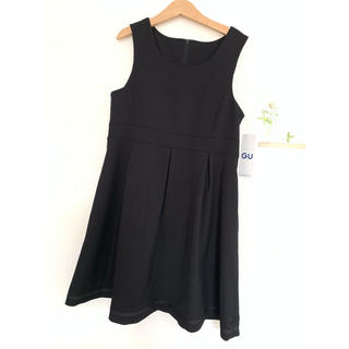 ジーユー(GU)の新品 GU ジャンパースカート 140 ブラック フォーマル 冠婚葬祭(ワンピース)