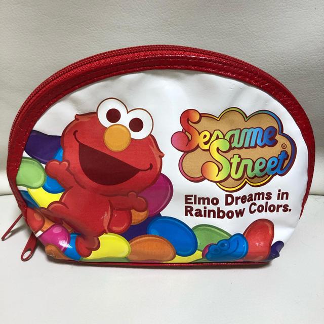 SESAME STREET(セサミストリート)のエルモ ポーチ セサミストリート エンタメ/ホビーのおもちゃ/ぬいぐるみ(キャラクターグッズ)の商品写真