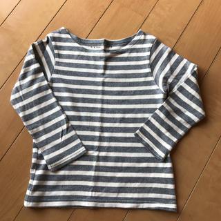 シマムラ(しまむら)の☆美品☆ボーダー ロンT  110   Natural Basic Style(Tシャツ/カットソー)