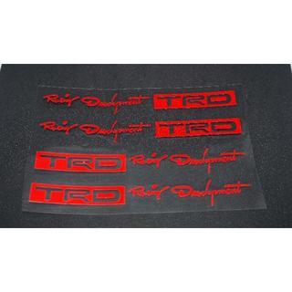 TRD カッティングステッカー レッド 4枚