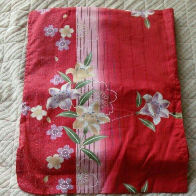 赤い浴衣、帯付き レディースの水着/浴衣(浴衣)の商品写真