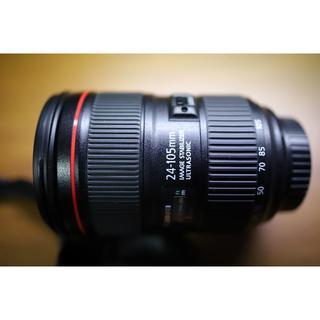 キヤノン(Canon)の【極美品】EF24-105mm F4L IS II USM(レンズ(ズーム))