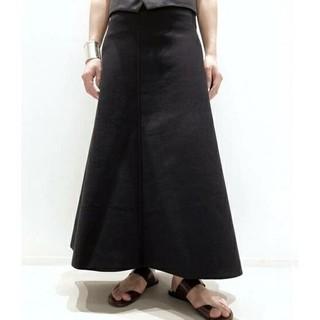 アパルトモンドゥーズィエムクラス(L'Appartement DEUXIEME CLASSE)のL'Appartement アパルトモン Flare スカートブラック黒(ロングスカート)