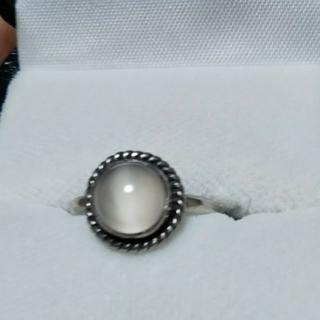 天然石 ムーンストーン指輪(ブラックムーンストーン?)(リング(指輪))