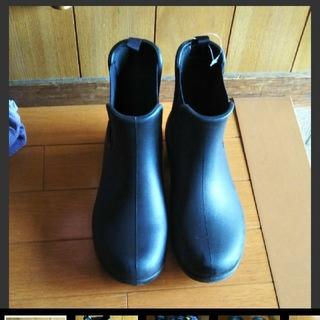 クロックス(crocs)の23㎝ W7 クロックス レインブーツ 長靴 サイドゴア 黒(レインブーツ/長靴)