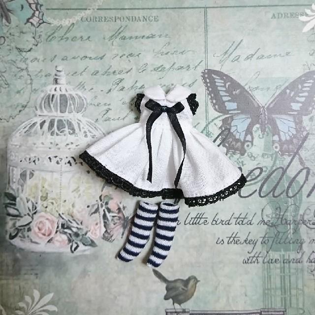 プチブライス  ワンピース*ソックスセット ハンドメイドのぬいぐるみ/人形(人形)の商品写真