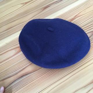 ネイビー フェルトベレー帽☆(ハンチング/ベレー帽)