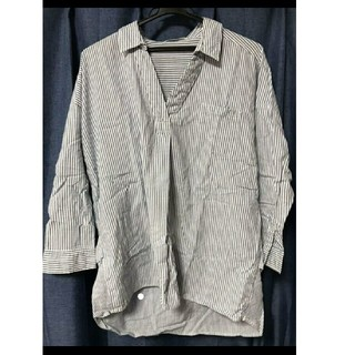 ショコラフィネローブ(chocol raffine robe)のストライブシャツ(シャツ/ブラウス(長袖/七分))