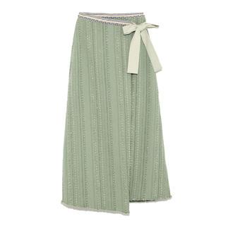 Lily Brown - ツイードラップスカート
