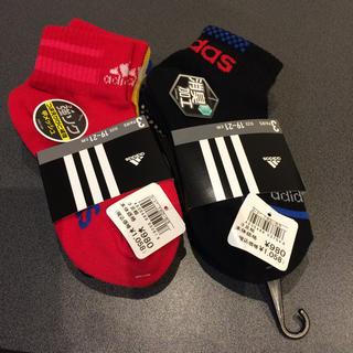 アディダス(adidas)の【新品☆19-21㎝】アディダス adidas ソックス 靴下 3足×2セット(靴下/タイツ)