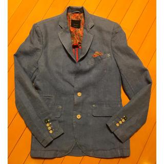 ザラ(ZARA)の【美品】ZARA MAN ブルー ジャケット S(テーラードジャケット)