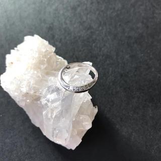 シルバー ジルコニア ピンキーリング (リング(指輪))